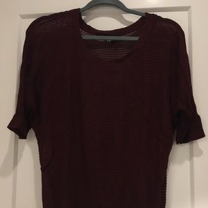 Express short sleeve sweater size L